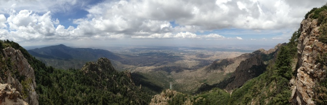 Hiking the Slopes at Sandia Peak