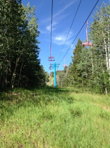 Ski lifts at Sandia.