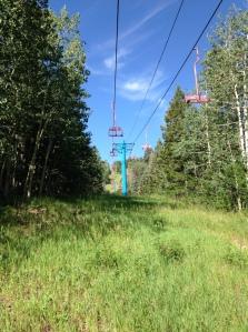 Ski lifts at Sandia.