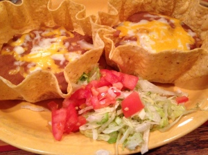 "Tostadas, aka ""two large orders of bean dip"""