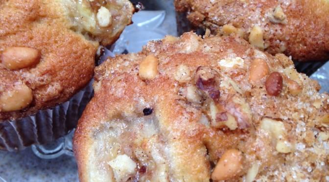 Banana Piñon Muffins