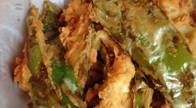 The Beatles Lied: A review of Casa Blanca's Fried Green Chile Strips which are, in fact, all you need.