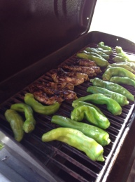 Grilling Hatch Green Chile