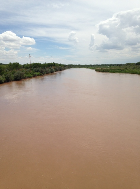 Rio Grande with water in it! Enjoy it before it's gone.
