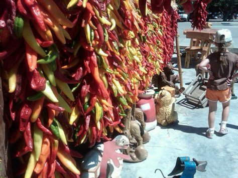 Chile Ristras in Hatch, New Mexico
