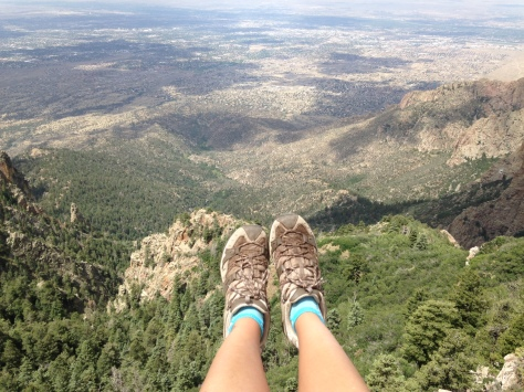 Sandia Peak and my feet