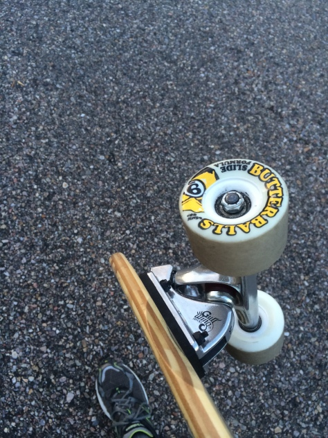 My current wheel of choice: Sector 9 Butterball, Durometer 80