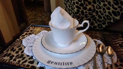 The dainty teacup, ready for service.