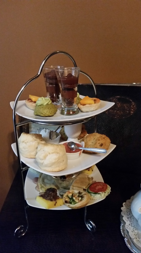 Your lunch, on a 3-tiered tray!