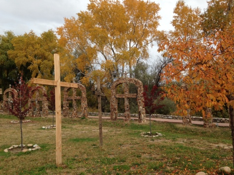 The grounds at Santuario de Chimayo