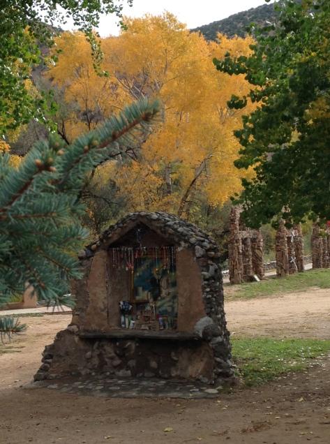 The grounds at Santuario de Chimayo