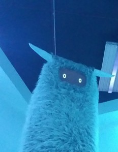 Big monster creature greets visitors at Meow Wolf in Santa Fe.